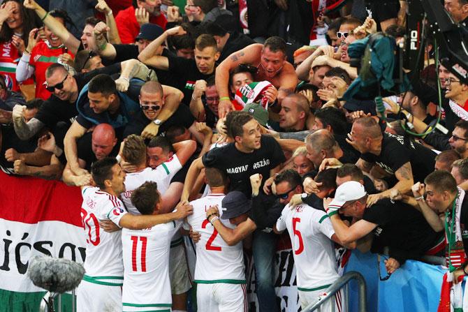 Rediff Sports - Cricket, Indian hockey, Tennis, Football, Chess, Golf - Euro: Hungary stun 10-man Austria 2-0 in thrilling match