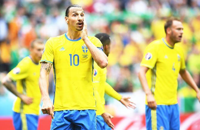 Rediff Sports - Cricket, Indian hockey, Tennis, Football, Chess, Golf - Euro: It's Ibra vs a collective Italy as Sweden face mighty Azzurri