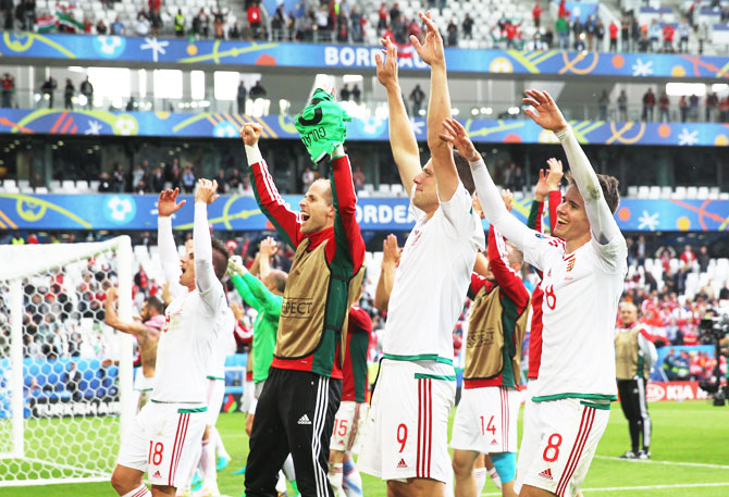 Rediff Sports - Cricket, Indian hockey, Tennis, Football, Chess, Golf - 'Compact and solid' Hungary bid to extend hot streak over Iceland