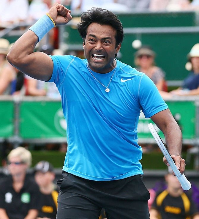 Rediff Cricket - Indian cricket - Paes-Begemann shock top seeds in Winston-Salem