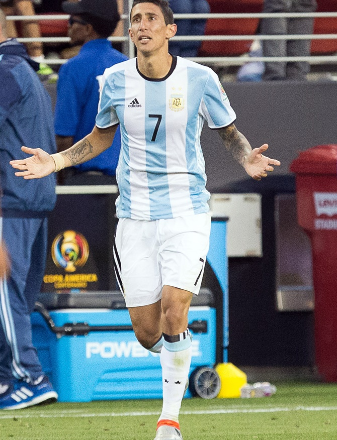Rediff Sports - Cricket, Indian hockey, Tennis, Football, Chess, Golf - Copa America: 'Noodle' Di Maria hoping to be 'al dente' for final