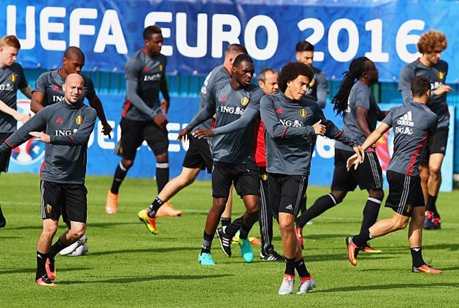 Belgium players