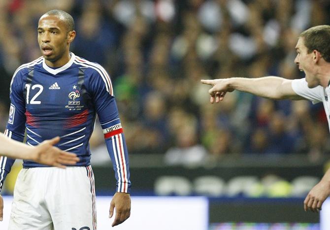 Rediff Sports - Cricket, Indian hockey, Tennis, Football, Chess, Golf - Henry handball gives Irish extra motivation vs France
