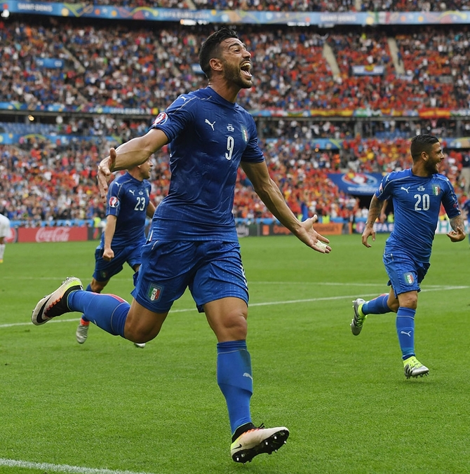 Rediff Sports - Cricket, Indian hockey, Tennis, Football, Chess, Golf - Euro 2016: Italy knock out holders Spain; face Germany next