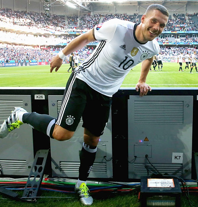 Rediff Sports - Cricket, Indian hockey, Tennis, Football, Chess, Golf - Here's why Podolski is critical of 'stupid' expanded Euro format