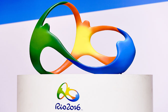 The official logo for the Rio 2016 Olympics games