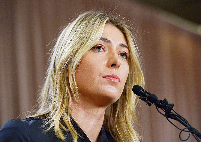 Rediff Sports - Cricket, Indian hockey, Tennis, Football, Chess, Golf - Sharapova's intent questioned - Why was she taking banned heart drug?