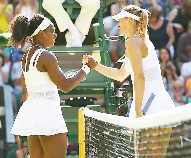 Rediff Sports - Cricket, Indian hockey, Tennis, Football, Chess, Golf - Sharapova showed courage in taking responsibility, says Serena