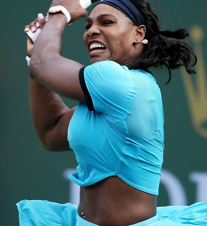 Rediff Sports - Cricket, Indian hockey, Tennis, Football, Chess, Golf - Serena Williams shows off her nose piercing