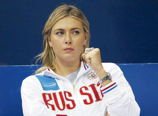 Rediff Sports - Cricket, Indian hockey, Tennis, Football, Chess, Golf - U.N. suspends Maria Sharapova as goodwill ambassador