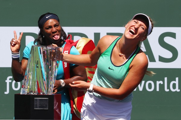 Rediff Sports - Cricket, Indian hockey, Tennis, Football, Chess, Golf - Azarenka stuns erratic Williams in Indian Wells final