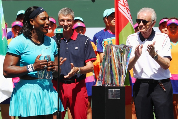Rediff Sports - Cricket, Indian hockey, Tennis, Football, Chess, Golf - Indian Wells CEO says women 'ride on the coattails' of men, apologizes
