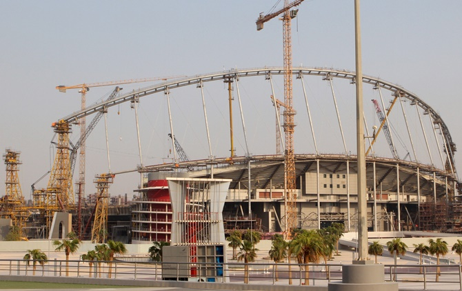 Rediff Sports - Cricket, Indian hockey, Tennis, Football, Chess, Golf - Worker dies in 'work-related fatality' at Qatar WC stadium