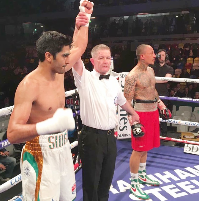 Rediff Cricket - Indian cricket - Will Vijender's momentum carry into India?
