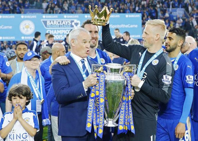 Rediff Sports - Cricket, Indian hockey, Tennis, Football, Chess, Golf - Italian honour for Leicester manager Ranieri