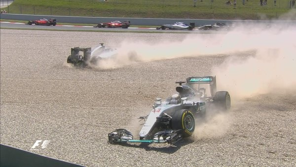 Spanish Grand Prix: Hamilton and Rosberg take each other out
