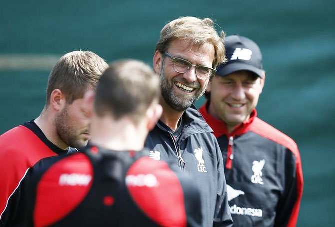 Rediff Sports - Cricket, Indian hockey, Tennis, Football, Chess, Golf - Klopp says Liverpool not favourites but it's possible to beat City