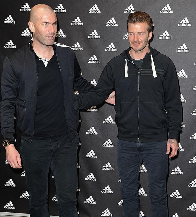 Rediff Sports - Cricket, Indian hockey, Tennis, Football, Chess, Golf - Zidane was born to coach, says Beckham