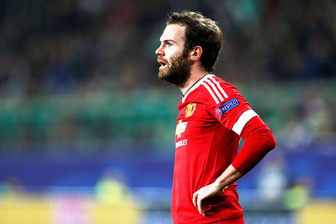 Rediff Sports - Cricket, Indian hockey, Tennis, Football, Chess, Golf - Mata's Manchester United future bleak with Mourinho's impending arrival
