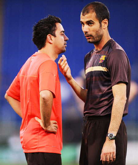 Rediff Sports - Cricket, Indian hockey, Tennis, Football, Chess, Golf - Guardiola will change the face of English football: Xavi