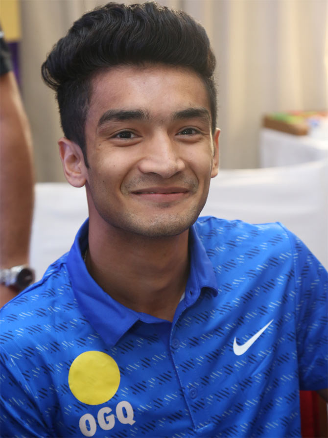 IMAGE: Shiva Thapa during the Olympic Gold Quest event in Mumbai, May ...