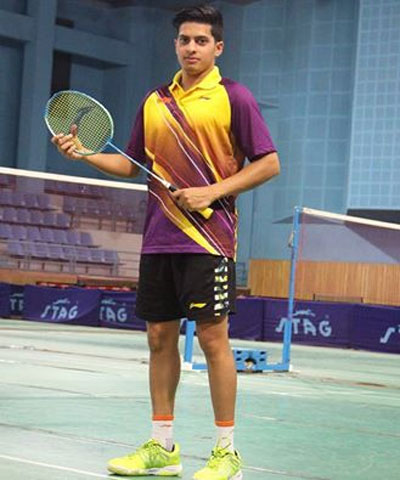 Rising Indian badminton player Pratul Joshi