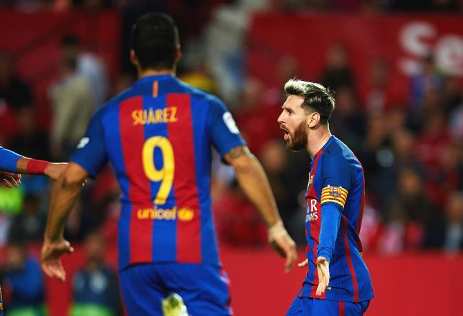 4447aa1fc Barcelona appeal Messi yellow card for time wasting - Rediff Sports