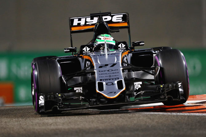 Nico Hulkenberg of Sahara Force India drives