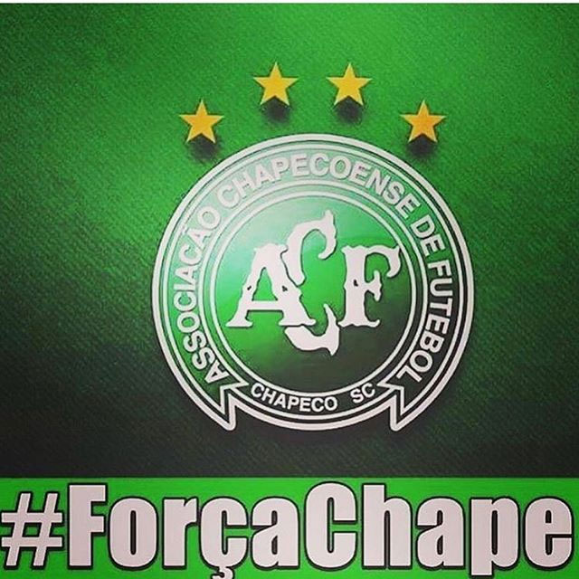 Barcelona footballer Neymar posted the emblem of the Brazilian club Chapecoense on his Twitter page