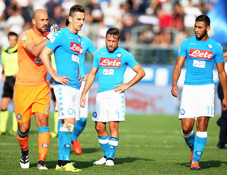 1547cb8dd Serie A  Napoli lose unbeaten record
