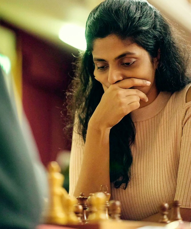 Rediff Sports - Cricket, Indian hockey, Tennis, Football, Chess, Golf - World Women's Chess: Harika misses out, Padmini survives
