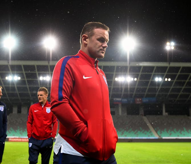 Wayne Rooney was earlier left out of the qualifiers against Germany, Lithuania and Slovenia