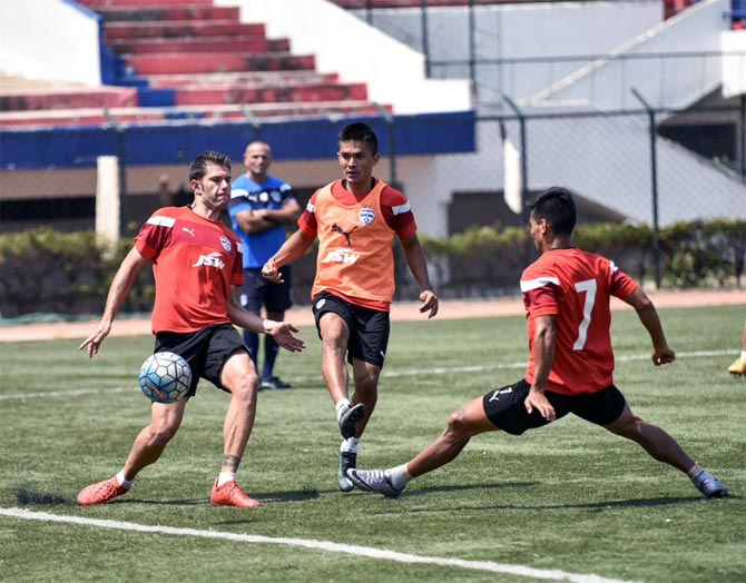 Rediff Sports - Cricket, Indian hockey, Tennis, Football, Chess, Golf - AFC Cup: Bengaluru FC eye a place in Indian football history