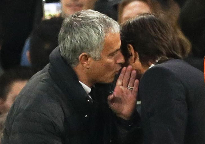 What did Mourinho whisper in Conte's ear?