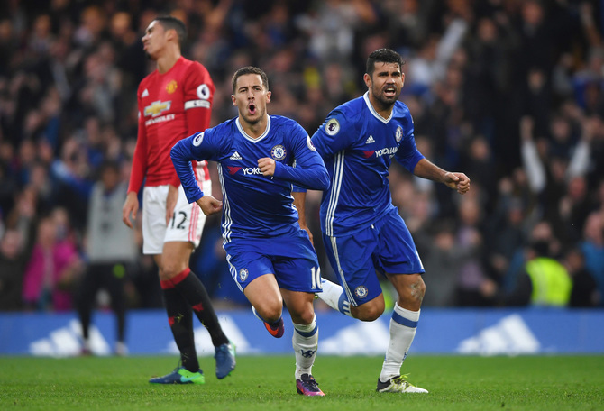 EPL PHOTOS: Mourinho's United Routed On Return To Stamford