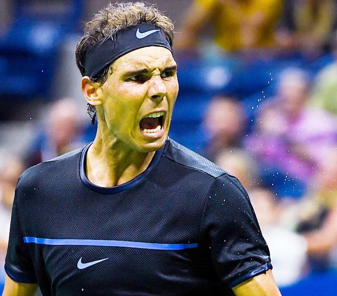 Rediff Sports - Cricket, Indian hockey, Tennis, Football, Chess, Golf - Nadal beats Dolgopolov on return to action in Brisbane