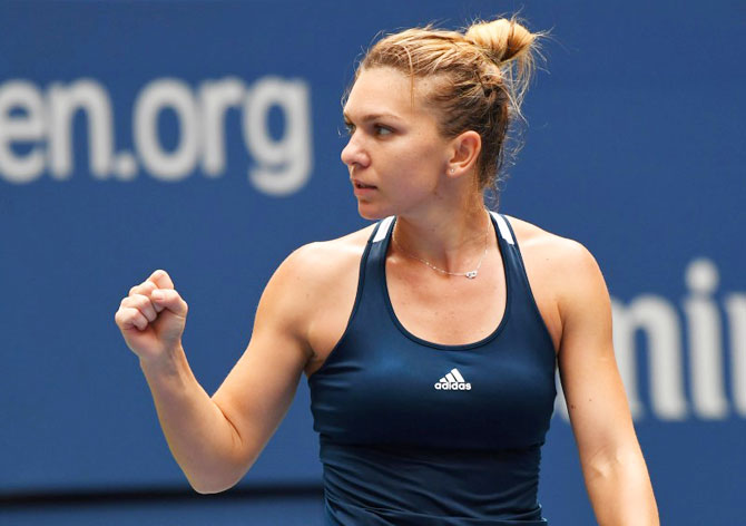 Rediff Sports - Cricket, Indian hockey, Tennis, Football, Chess, Golf - US Open PHOTOS: Halep gets Hungarian fright before reaching last 16