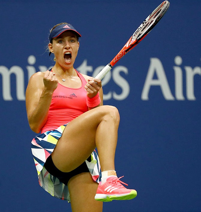 Rediff Sports - Cricket, Indian hockey, Tennis, Football, Chess, Golf - No 1 Kerber prefers to play good and consistence tennis