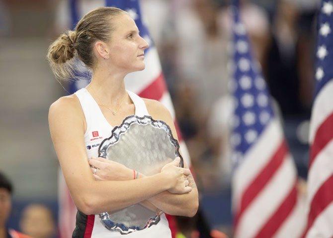 Rediff Sports - Cricket, Indian hockey, Tennis, Football, Chess, Golf - US Open: Aggressive style almost pays off for Pliskova