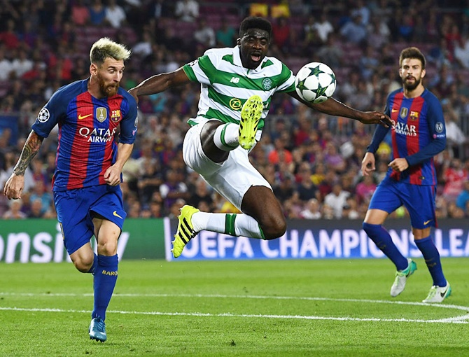Rediff Sports - Cricket, Indian hockey, Tennis, Football, Chess, Golf - Champions League PIX: Messi sets hat-trick record; PSG wasteful