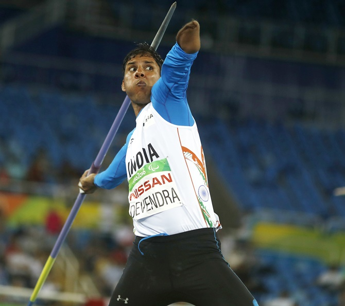 India's Devendra Jhajharia