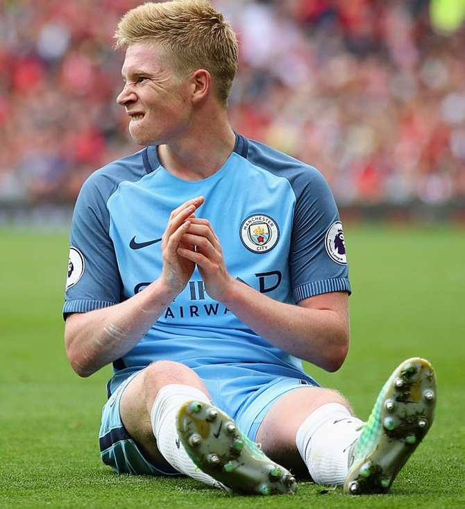 EPL: City's De Bruyne suffers knee injury, faces long wait on sidelines