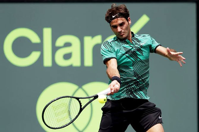 I want to stay healthy because when I'm healthy and feeling good I can produce tennis like this, Roger Federer said after defeating Rafael Nadal to win the Miami Open title on Sunday