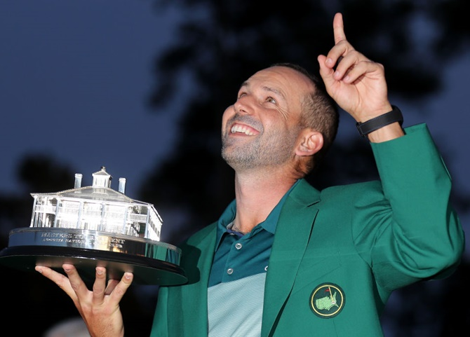 US Masters: Garcia beats Rose to claim Green Jacket - Rediff.com ...