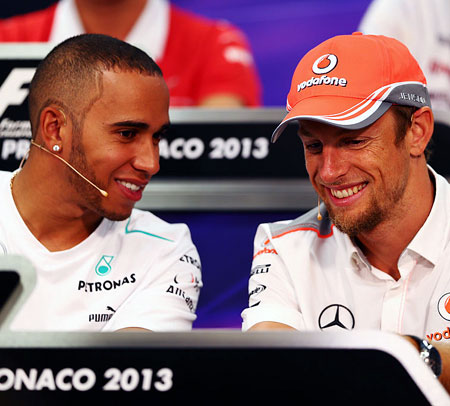 Rediff Sports - Cricket, Indian hockey, Tennis, Football, Chess, Golf - F1: Hamilton backs Button to replace Alonso in Monaco