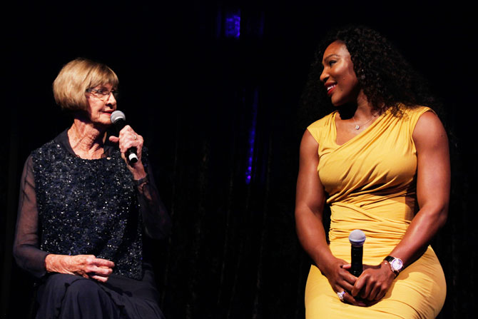 Margaret Court and Serena Williams