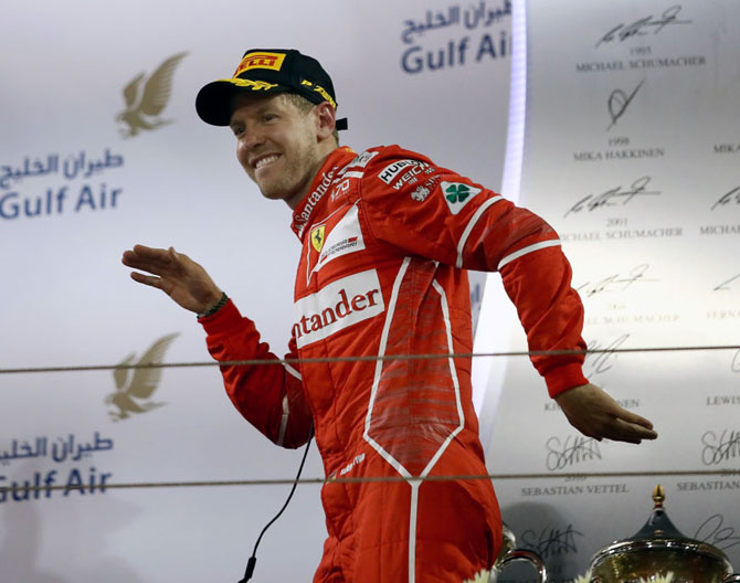 Rediff Sports - Cricket, Indian hockey, Tennis, Football, Chess, Golf - F1: Vettel leads the red revival to Russia