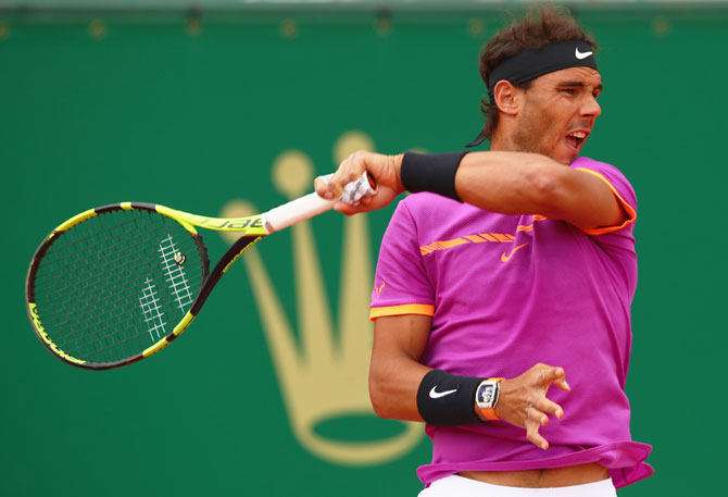 Rediff Sports - Cricket, Indian hockey, Tennis, Football, Chess, Golf - Nadal logs 50th win at Barcelona Open after cruising into quarters