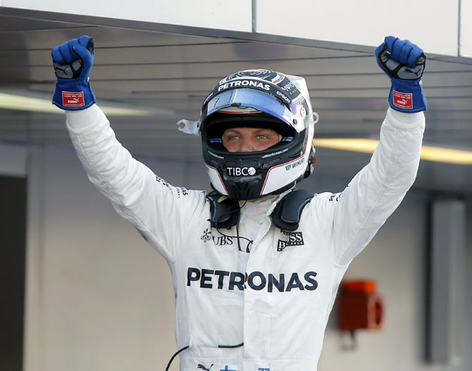 Rediff Sports - Cricket, Indian hockey, Tennis, Football, Chess, Golf - Bottas wins in Russia for his first F1 victory