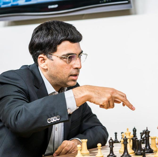 Rediff Sports - Cricket, Indian hockey, Tennis, Football, Chess, Golf - Anand edges past Matlakov in Tata Steel opener
